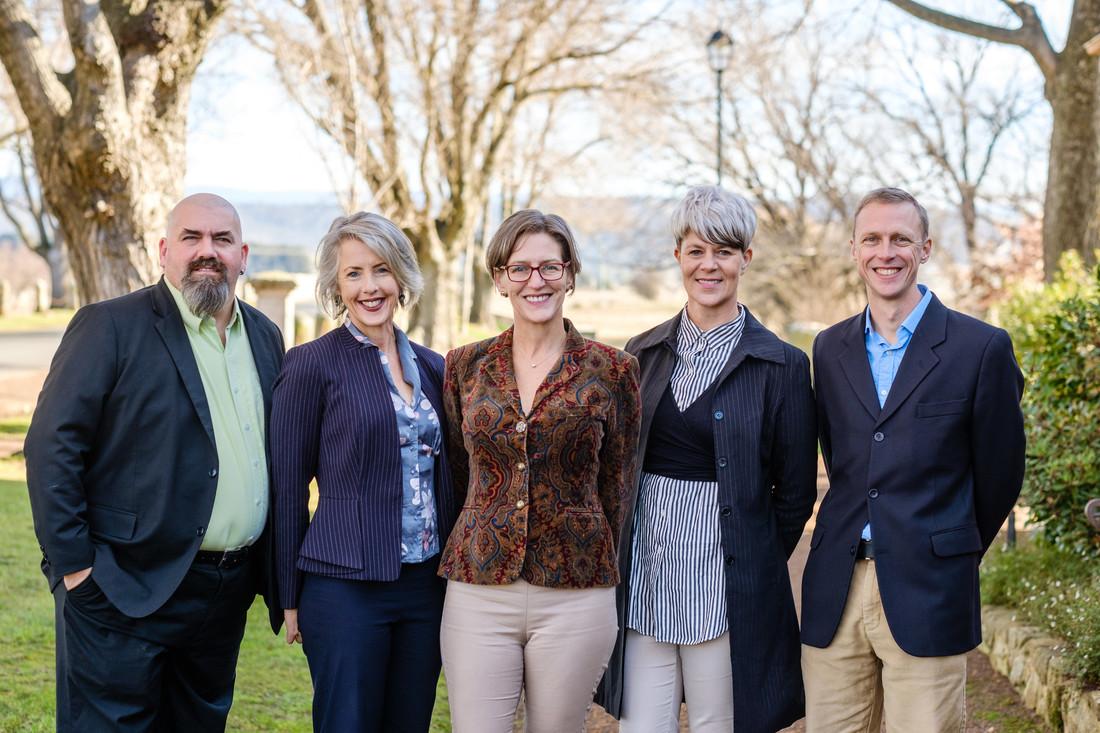 Tasmania Lead Candidates, Scott Jordan, Rosalie Woodruff, Cassy O'Connor, Andrea Dawkins, Fraser Brindley